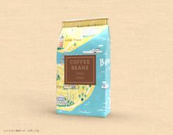 コーヒー豆 パッケージ イラスト