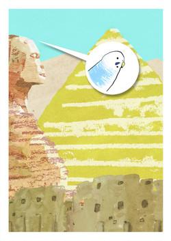 エジプトを旅するインコ