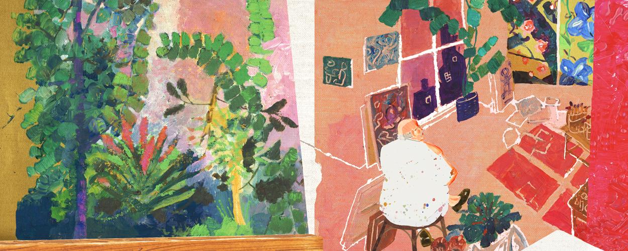 画家の昼と夜