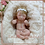 Thumbnail: Mini bebê de silicone sólido Carol (encomenda)
