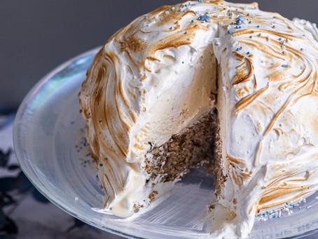 BAKED ALASKA - ciasto lodowe zainspirowane zimą.