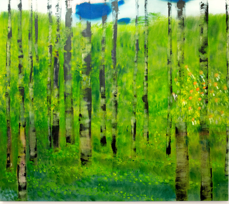 The Nakes Trees Oil on flax, 140 x 160 cm, 2019