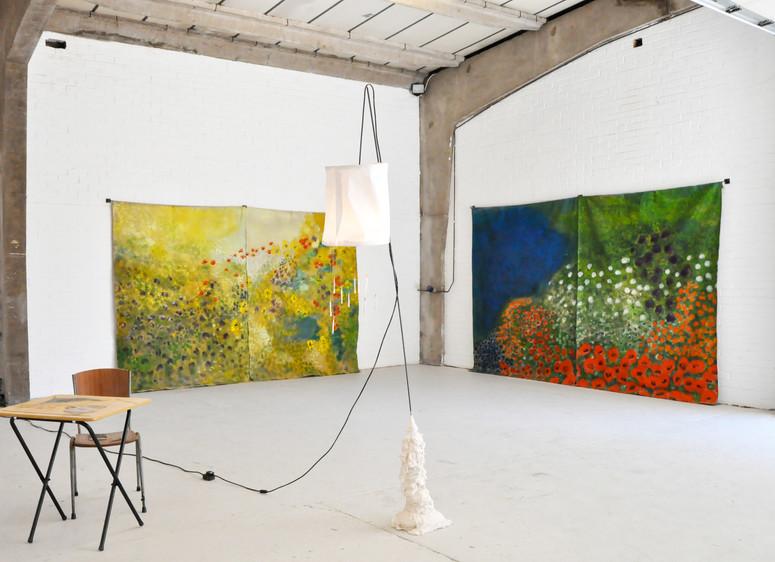 Installation view: Diane Chappalley + Georgia Sowerby, SET Space, London, UK, 2019
