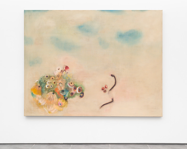Diane Chappalley The Rose & The Snake 170 x 220 cm, Oil on flax, 2020