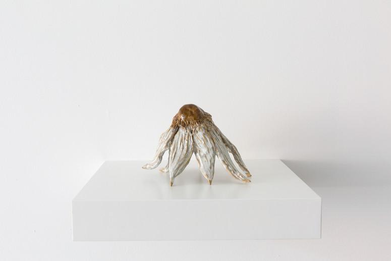 Stone Flower, Glazed ceramic, 15 x 14 x 12 cm, 2021