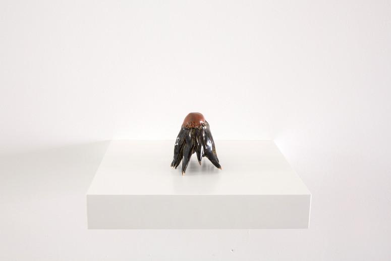 Stone Flower, Glazed ceramic, 10 x 8 x 10 cm, 2021