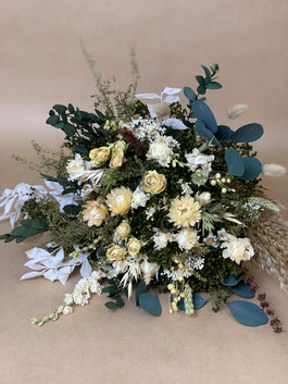 Cream and Green Bridal Bouquet