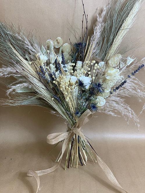 Ecru Blue Bouquet