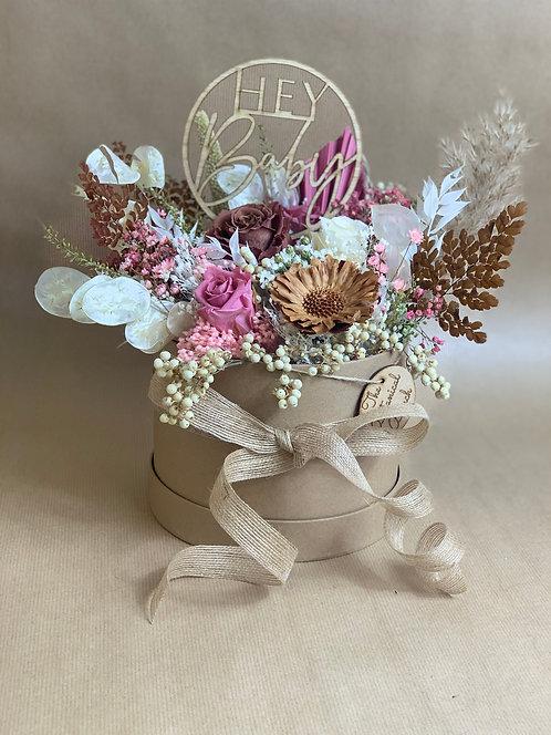 Pink Latte Flower Hat Box