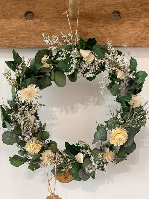 25cm Evergreen Indoor Wreath