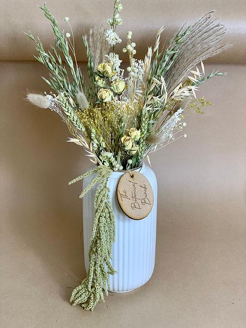 Green & Cream Letterbox Flowers