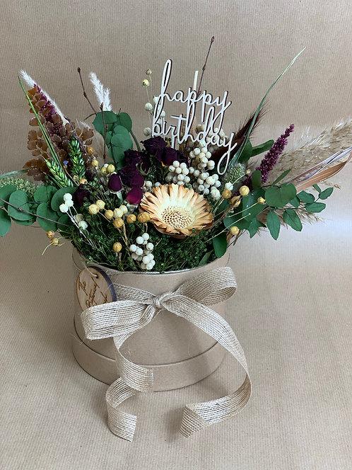 Velvet Flower Hat Box