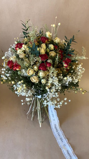 Red and Gold Bridal Bouquet