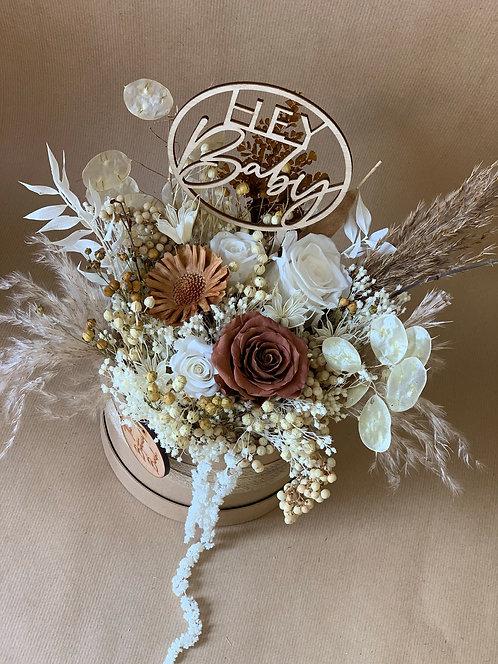 Vanilla Mocha Flower Hat Box