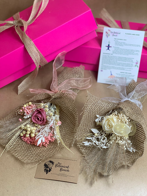 Preserved Pink Rose Mini Giftbox Bouquet