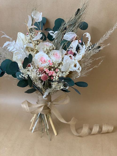 Pink & Grey Bridal Bouquet
