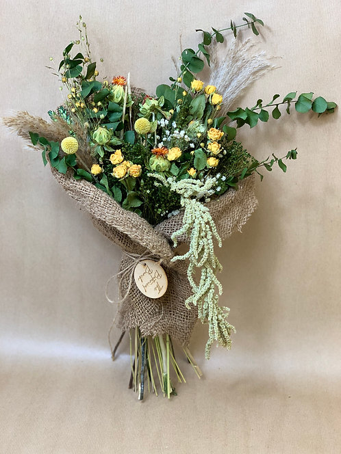 Rustic Spring Green Bouquet