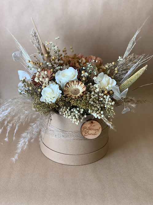 Tanned Flower Hat Box