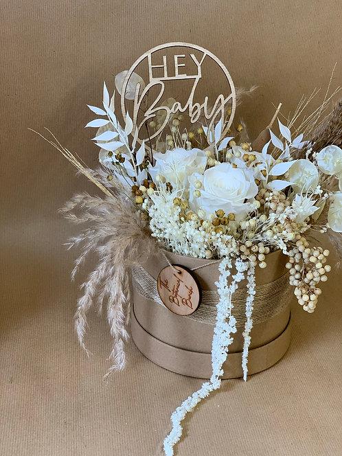 Toffee Cream Flower Hat Box