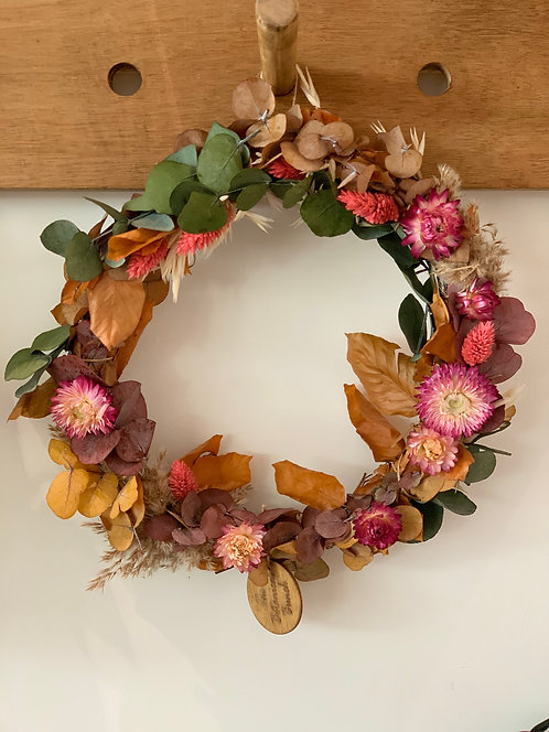 25cm Multi Indoor Wreath