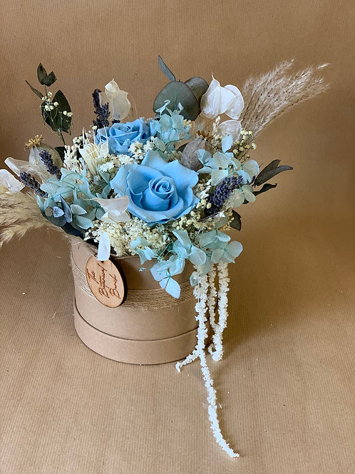 Baby Blue Flower Hat Box