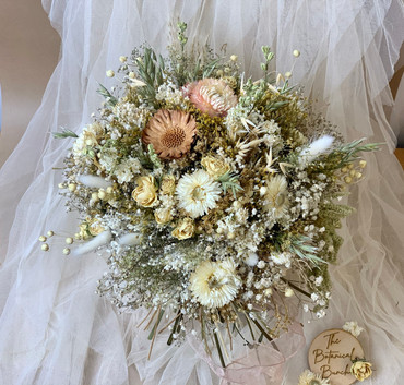 Cream and Brown Bridal Bouquet