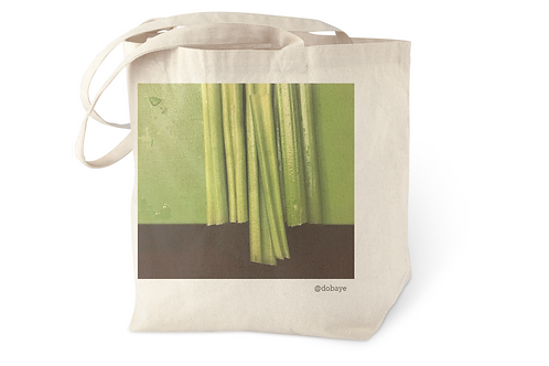 """celery chop"" cotton tote bag"