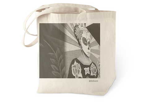 """Day of the Dead"" cotton tote bag"