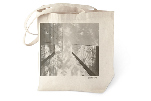 """nyc reflections"" cotton tote bag"