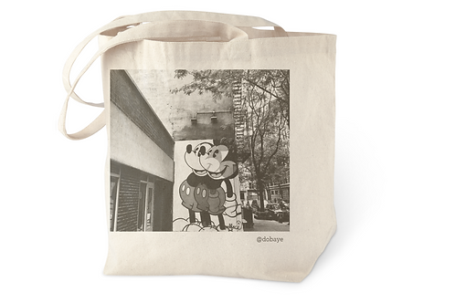 """mickey mouse in nyc"" cotton tote bag"