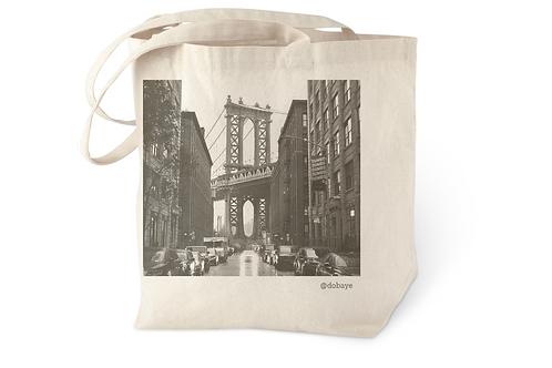 """Manhattan Bridge from Dumbo"" cotton tote bag"