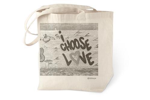 """I choose love"" cotton tote bag"