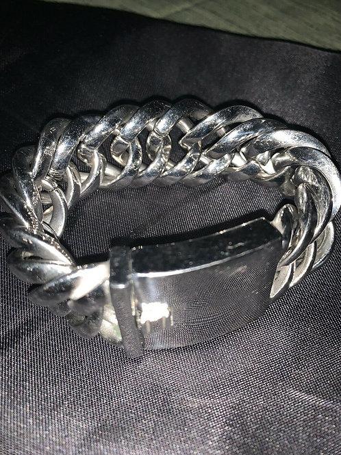 """Vintage Ross Simons Silver Bracelet  8.5"""" Stainless Steel"""