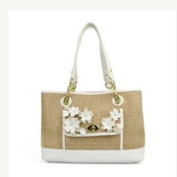 Liz Clairborne Debbie Applique Shoppe Bag NEW