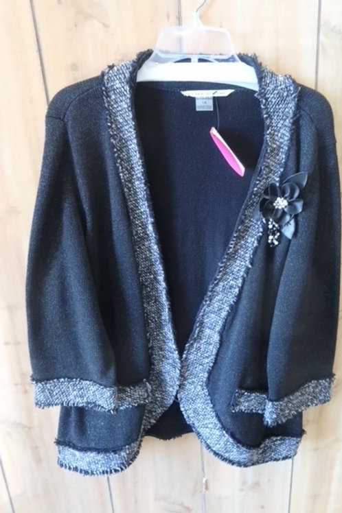 Peter Nygard Black Knit Blazer Jacket 1X