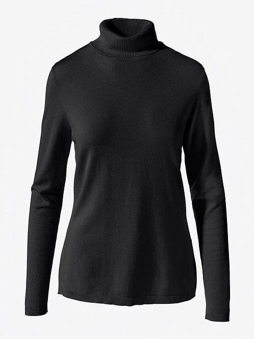CHICO's NWT Sz 3 Black Pullover Turtleneck *Coolmax