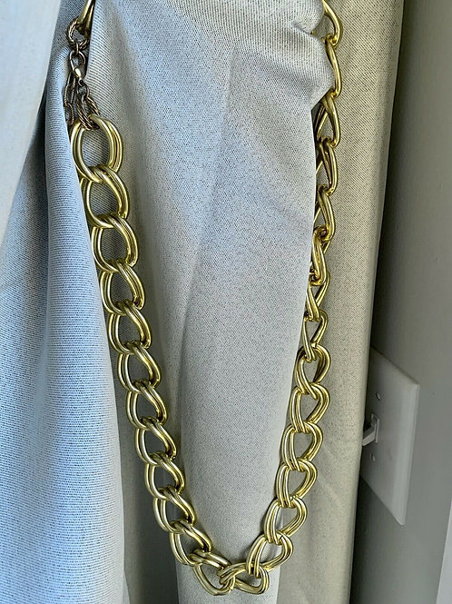 Vintage R.J. Graziano 14K Yellow Gold Over  Signed Link Chain Necklace 36""