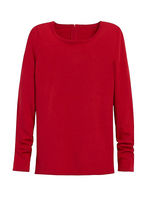 CHICO's Sz 3 NWT Mindy Pullover Sweater Renaissance Red
