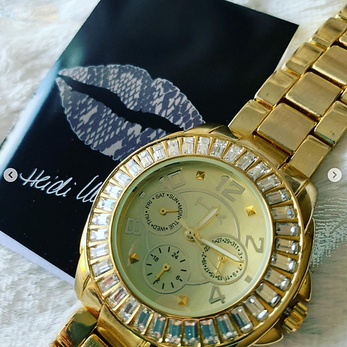 NEW Bold Heidi Klum Watch- Gold in Color