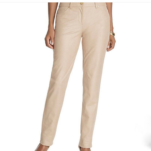 Chico's Bisque Sueded Slim Pants Sz 1 NEW