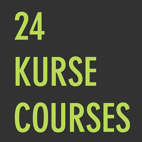 24 Kurse  /  24 Courses