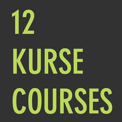 12 Kurse  /  12 Courses