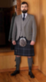 Silver Arrochar Jacket with Balmoral Tartan