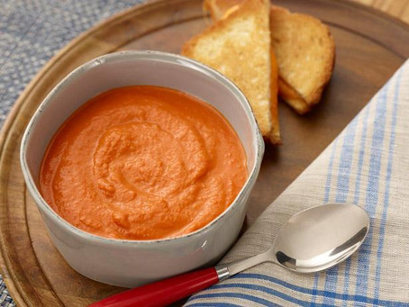 Food Review: Grilled Three-Cheese Sandwich and Tomato Basil Soup