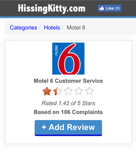 DID MOTEL 6 PAY THE BETTER BUSINESS BUREAU TO SPIKE RATINGS?