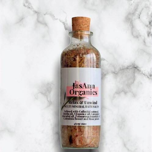 Relax & Unwind Bath Salts (16oz/460g)