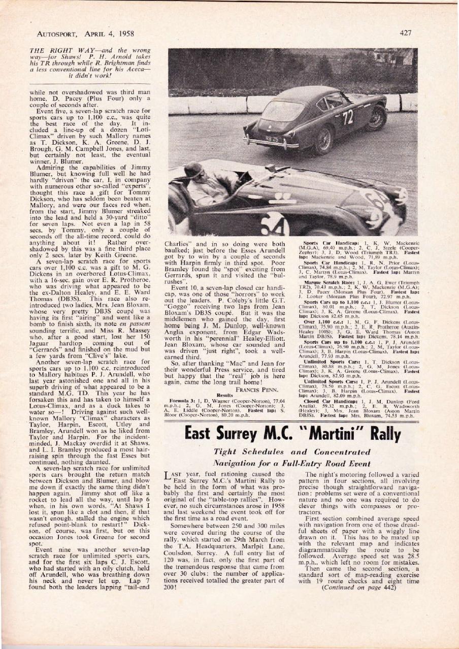 AUTOSPORT Avril 1958 1