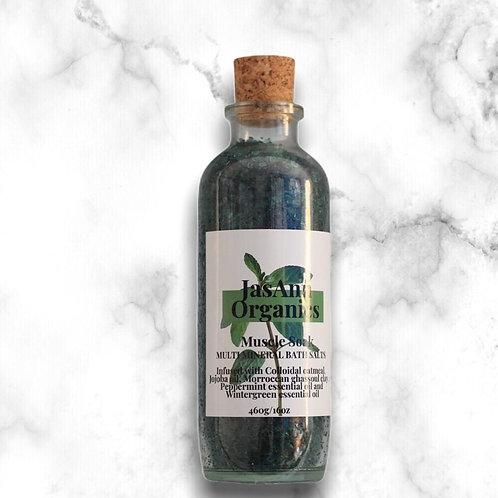 Muscle Soak Bath Salts  (16oz/460g)