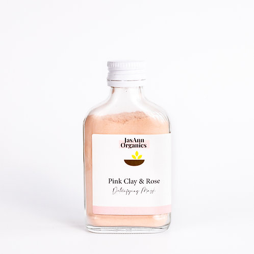 Pink Clay & Rose Detoxifying Mask (100g)