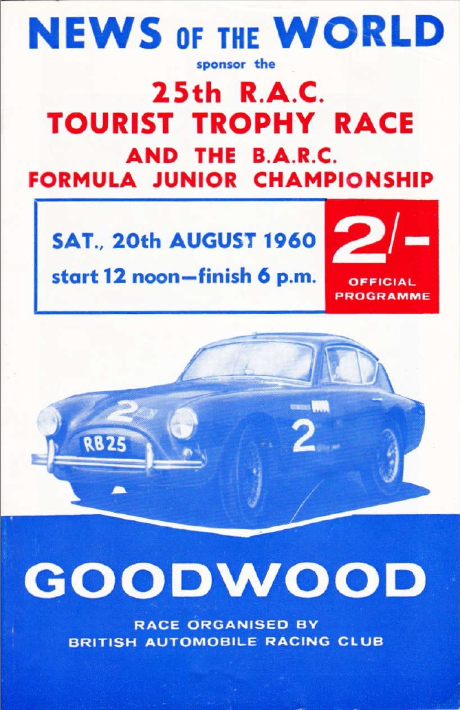 1960 Goodwood TT Program